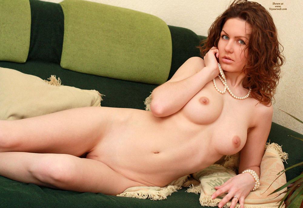 girl relaxing naked