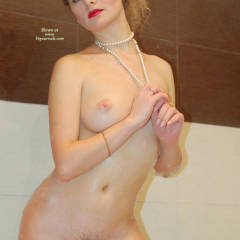Nude Girl Standing - Blonde Hair, Firm Tits, Pale Skin, Spread Legs, Trimmed Pussy, Naked Girl, Nude Amateur, Nude Wife, Sexy Legs