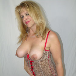Raunchy in Red - Blonde, Lingerie, Wife/Wives