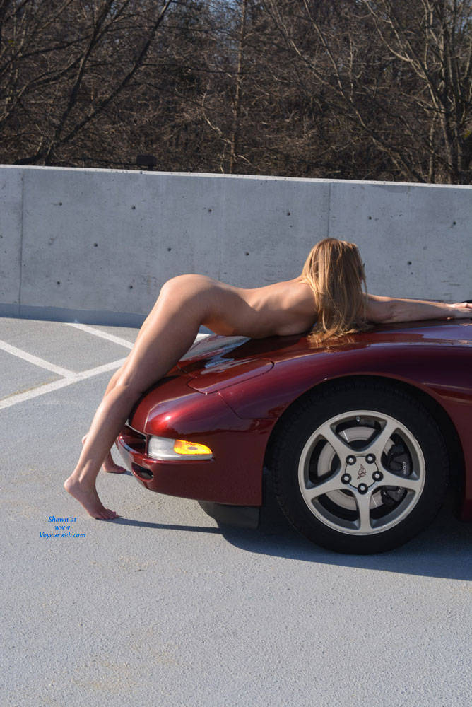 Pic #1 Parking Garage Fun Part 2 - Blonde, Public Exhibitionist, Public Place, Shaved