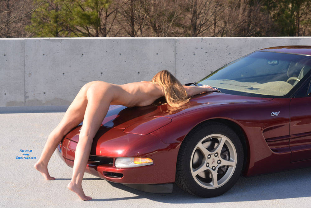 Pic #5 Parking Garage Fun Part 2 - Blonde, Public Exhibitionist, Public Place, Shaved
