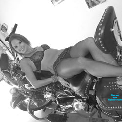 Chilling Nude On My Harley - Bra, Heels, Hot Girl, Sexy Body, Sexy Face, Sexy Feet, Sexy Figure, Sexy Girl, Sexy Legs, Sexy Panties, Sexy Woman