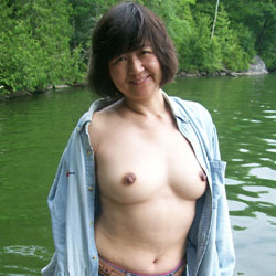 Hiking by The Pond - Big Tits, Brunette, Nature, Asian, Hard Nipples