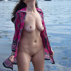 Zeena's Beach Day - Big Tits, Beach Voyeur, Wife/Wives