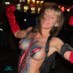 Painted Big Tits In Mardi Gras - Artistic Nude, Big Tits, Blonde Hair, Erect Nipples, Exposed In Public, Firm Tits, Huge Tits, Nude In Public, Showing Tits, Topless Girl, Topless Outdoors, Topless, Sexy Boobs, Sexy Face, Sexy Woman
