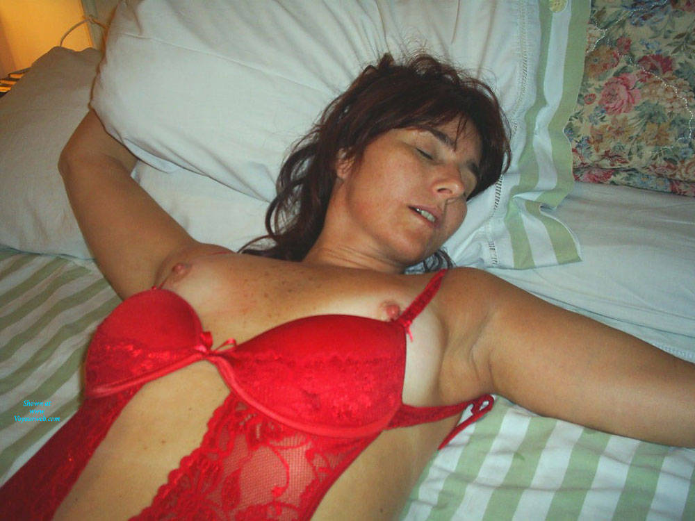 Pic #1 - Tied - Brunette Hair, Sexy Lingerie, Wife/Wives , Last Night I Tied My Wonderful Wife And Make Her Screaming!!!! She Is 47 Y/o, How Do You Find About Her?