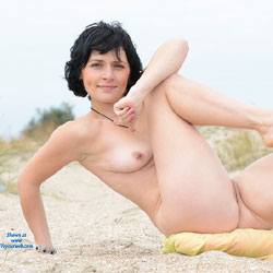 Acrobatic Beach Pose - Brunette Hair, Exposed In Public, Firm Tits, Full Nude, Naked Outdoors, Natural Tits, Nipples, Nude Beach, Nude In Nature, Nude In Public, Shaved Pussy, Short Hair, Beach Pussy, Beach Tits, Beach Voyeur, Hairless Pussy, Hot Girl, Naked Girl, Sexy Ass, Sexy Body, Sexy Face, Sexy Feet, Sexy Figure, Sexy Girl, Sexy Legs, Sexy Woman