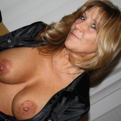 Very large tits of my wife - sexy wife