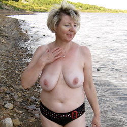 Beautiful Sexy Ivana On Holiday - Beach, Big Tits, Mature