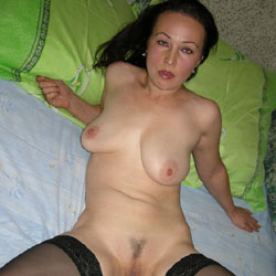At Home Shows Itself - Big Tits, Brunette, Lingerie