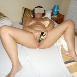 Horny Wife Plays With Bottles - Masturbation, Wife/Wives