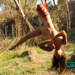 Nelly and Shibari - Brunette Hair, Nude In Public