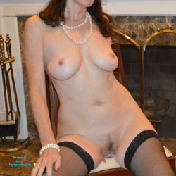 Sitting Yummy At Home - Big Tits, Brunette Hair, Chair, Full Nude, Hanging Tits, Huge Tits, Indoors, Large Breasts, Nipples, Perfect Tits, Shaved Pussy, Stockings, Hairless Pussy, Hot Girl, Naked Girl, Sexy Body, Sexy Boobs, Sexy Face, Sexy Legs, Sexy Woman