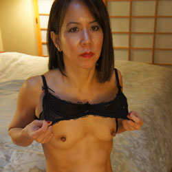 Carolyn Jane On Her 53rd Birthday - Brunette, Hard Nipples, Lingerie, Mature, Small Tits