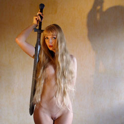Naked Sword Girl - Blonde Hair, Erect Nipples, Firm Tits, Full Nude, Hard Nipple, Indoors, Long Hair, Nipples, Shaved Pussy, Hairless Pussy, Hot Girl, Naked Girl, Sexy Body, Sexy Face, Sexy Figure, Sexy Girl, Sexy Legs, Sexy Woman