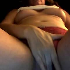 Red Panties - Big Tits, Masturbation, Shaved