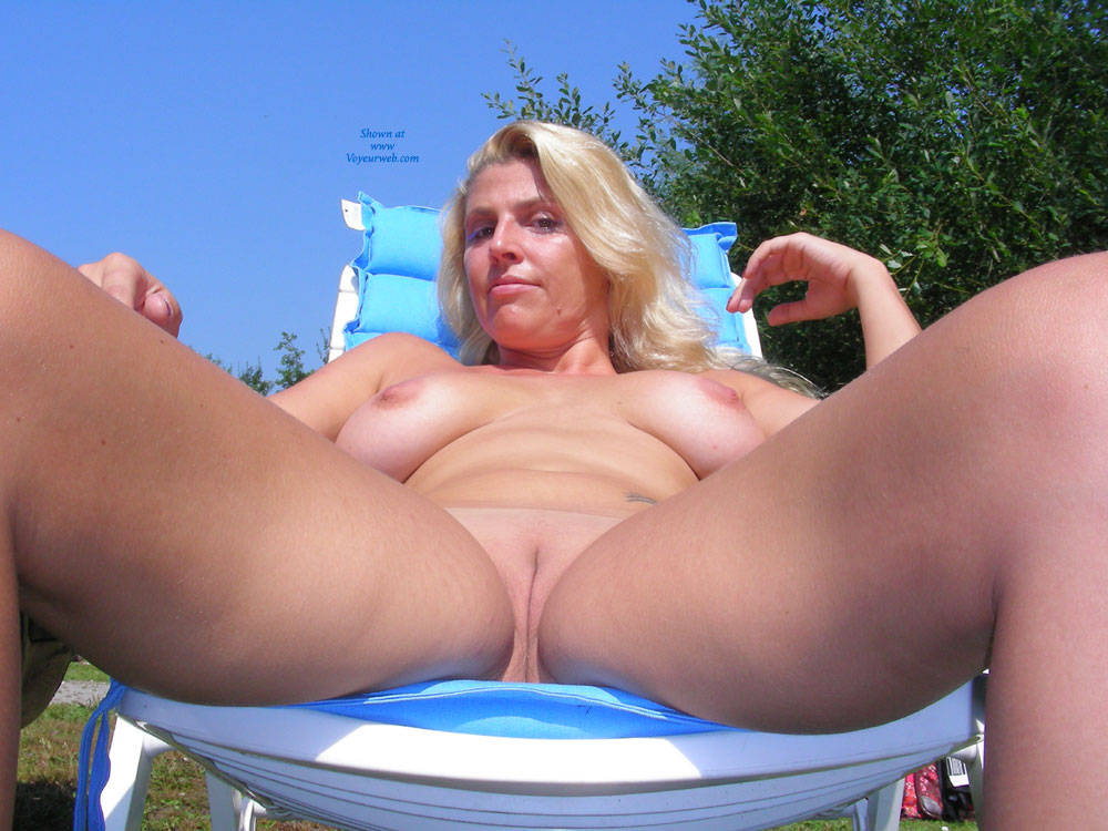 Hot Milf Adri - Big Tits, Blonde Hair, Shaved , A Shoot We Did On One Of The Last Summer Day Last Year. Hope You Like It.