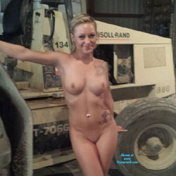 She Thinks My Tractors Sexy - Big Tits, Blonde, Lingerie, Tattoos