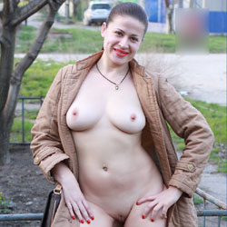 Sexy Viko - Big Tits, Brunette Hair, Exposed In Public, Flashing, Nude In Public, Shaved