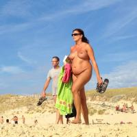 Big Breasted Lady - Beach, Big Tits