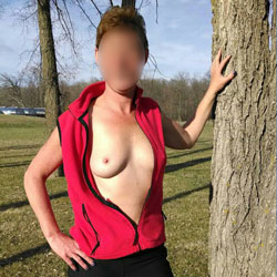 Sunny Afternoon Fun !!! - Medium Tits, Wife/Wives, Hard Nipples, Natural Tits, Nature