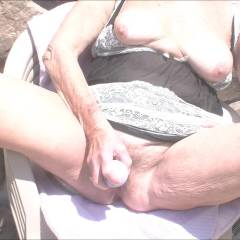 Nice Sunny Day - Big Tits, Masturbation, Outdoors, Toys