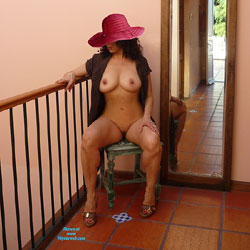 Sitting Naked Wearing Hat - Big Tits, Brunette Hair, Chair, Erect Nipples, Hard Nipple, Heels, Huge Tits, Indoors, Large Breasts, Nipples, No Panties, Perfect Tits, Shaved Pussy, Showing Tits, Hairless Pussy, Hot Girl, Naked Girl, Sexy Body, Sexy Boobs, Sexy Girl, Sexy Legs, Sexy Woman, Latina