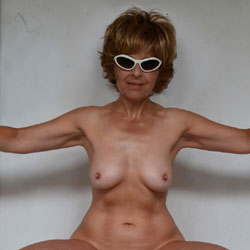 Lady Bee Against the Wall - Big Tits, Hard Nipples, Mature