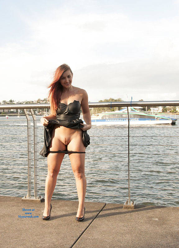 Pic #1 - Sophie Changes Panties - Exposed In Public, Flashing, Heels, Nude In Public, Redhead, Dressed , We Went Down To The River And Sophie Changed Her Panties While The Ferries Went By I'm Sure Each Ferry Was Getting Closer