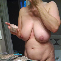 Bath And Getting Ready To Go Out - Big Tits