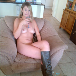 Drinking Naked On The Couch - Blonde Hair, Boots, Erect Nipples, Firm Tits, Full Nude, Hard Nipple, Indoors, Milf, Nipples, Perfect Tits, Hot Girl, Naked Girl, Sexy Body, Sexy Face, Sexy Figure, Sexy Girl, Sexy Legs, Sexy Woman