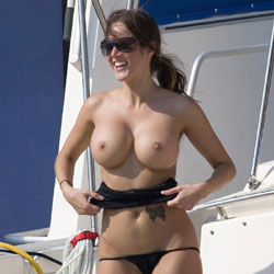 Laura Having Fun On The Lake - Big Tits