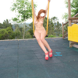 Joanna at Childrens Playground - High Heels Amateurs, Striptease