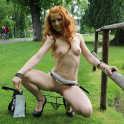 Vienna Loves Mirtylla - Flashing, High Heels Amateurs, Public Exhibitionist, Public Place, Redhead, Shaved