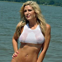 Fun In The Sun - Blonde Hair, Milf, See Through, Beach Voyeur , Vic Cools Off In The River