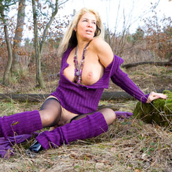 Whoring In The Woods - Big Tits, Blonde, Nature, MILF