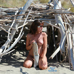 Sed At The Beach! - Beach, Brunette