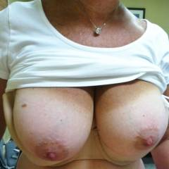 Very large tits of my wife - Tina