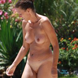 Sun Bath - Big Tits, Brunette, MILF