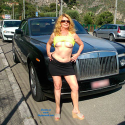 Exhibition From Nice France - Flashing, Public Exhibitionist, Public Place