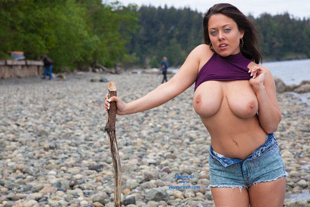 Big Tits By The Sea  - Big Tits, Brunette Hair, Exposed In Public, Flashing Tits, Flashing, Hanging Tits, Huge Tits, Milf, Nude Beach, Nude In Nature, Nude In Public, Nude Outdoors, Perfect Tits, Showing Tits, Strip, Beach Voyeur, Hot Girl, Sexy Body, Sexy Boobs, Sexy Woman , Big Tits, Outdoor, Nude, Stripteasing, Legs, Shorts, Beach