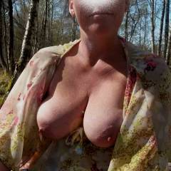Medium tits of my wife - Anna