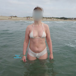 My WW On The Beach - Beach, Big Tits, Bikini Voyeur