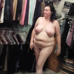 Large tits of my wife - maturechubbywife