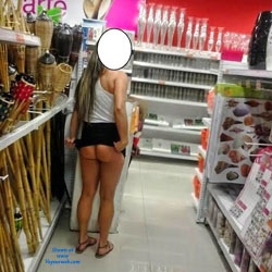 A Stroll In The Mall Stores - Flashing, Public Exhibitionist, Public Place