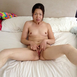 Spreading Her Pussy - Brunette, Bush Or Hairy