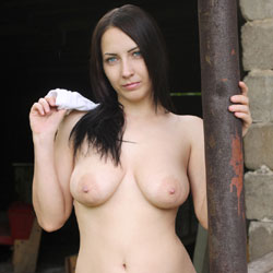 Joliesse Naked In Garden - Big Tits, Brunette Hair, Wife/Wives