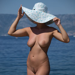 White Hat - Beach, Big Tits, Firm Ass
