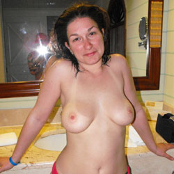 Topless In The Bathroom - Big Tits, Brunette Hair, Hanging Tits, Huge Tits, Indoors, Large Breasts, Perfect Tits, Showing Tits, Topless Girl, Topless, Hot Girl, Sexy Body, Sexy Boobs, Sexy Face, Sexy Figure, Sexy Girl, Sexy Legs, Sexy Panties, Sexy Woman