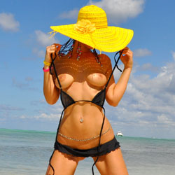 Sfizy, Transparent Micro Bikini... And Sailor - Big Tits, Bikini, Beach Voyeur